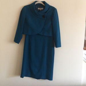 Blue Tahari dress with a wrap size 6